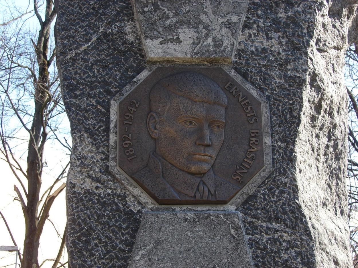 Ernests Brastiņš memorial