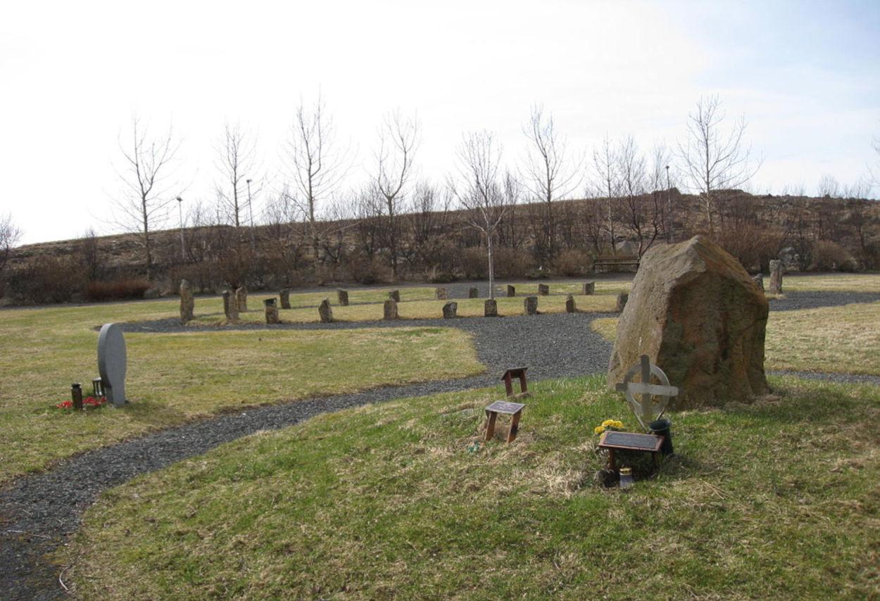 Ásatrú graveyard in Reykjavík
