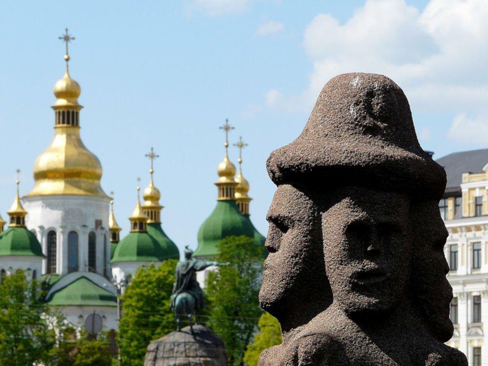 Svetovid statue in Kiev