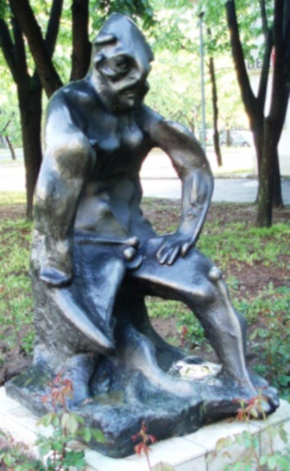 Perun statue in Novi Beograd