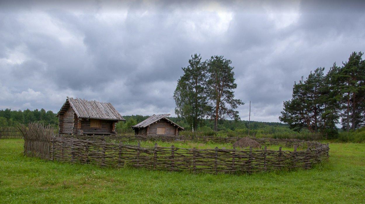 Slavic village of the 10th century