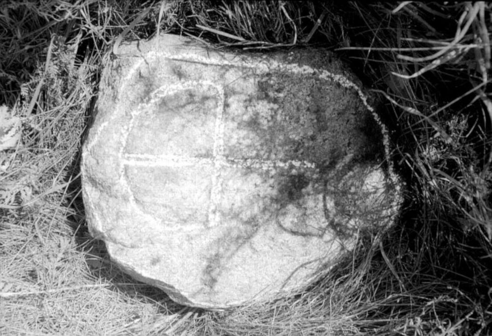 Carved stones at Garky