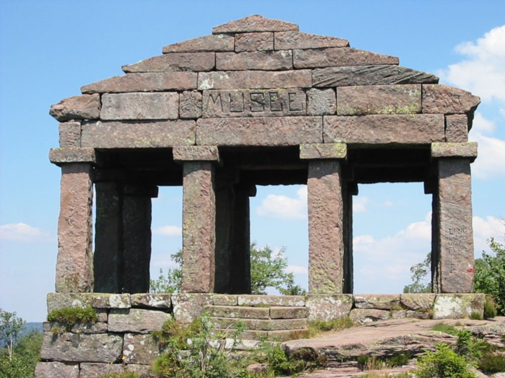 Reconstructed Vosegus temple
